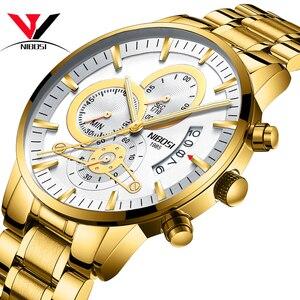 Image 3 - NIBOSI Relogio męski zegarek mężczyźni złoty i czarny męskie zegarki Top marka luksusowe zegarki sportowe 2019 Reloj Hombre wodoodporny