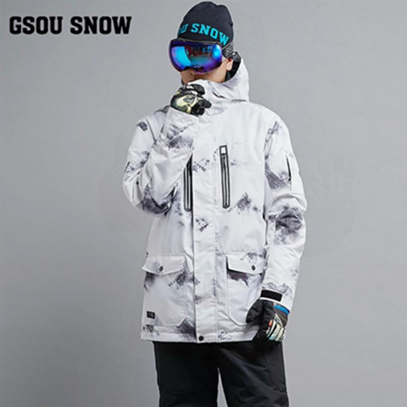 2017 куртка мужская для сноуборда GSOU SNOW горнолыжный костюм мужской, горные лыжи куртка,лыжный костюм мужской,костюм сноуборд мужчины