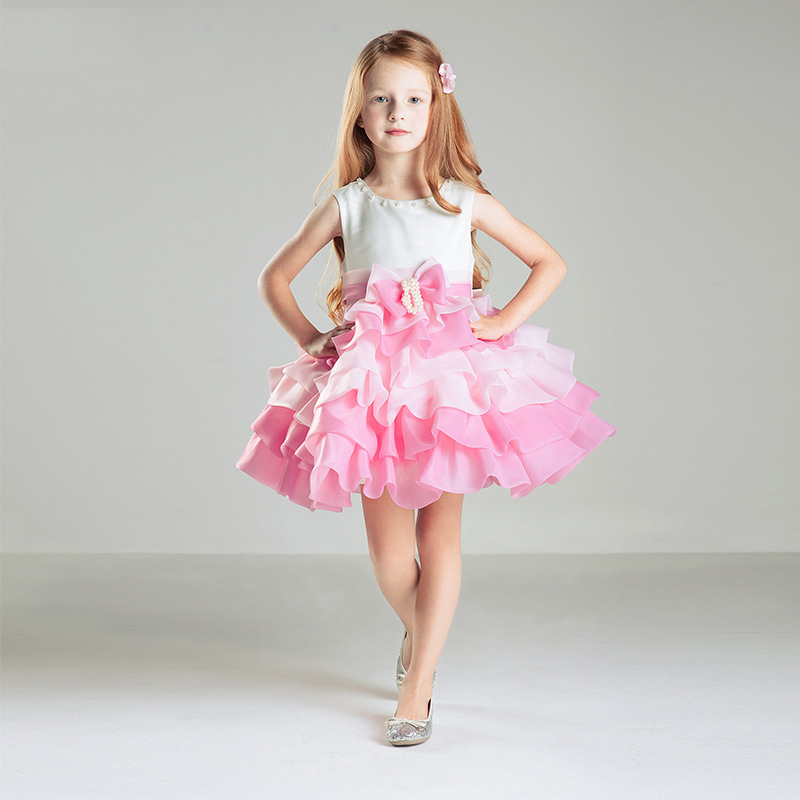 Flower Girls Dresses For Party And Wedding Princess Dress ButterFly Girl Summer Dress new kids princess dress for girls dresses for summer party dress wedding flower girl dress girls clothing gift 6 colors