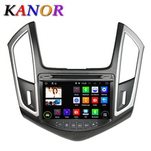 "Quad Core Android 5.1 8 ""Coche DVD GPS Navi Para Chevrolet Cruze 2015 1024*600 Capacitiva Pantalla Táctil Central Multimedia Autoradio"
