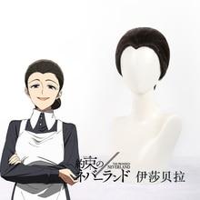The Promised Neverland Isabella Cosplay WIGS Yakusoku no Costume Anime Hair Black widows peak