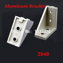 10pcs 2040(18*38) Corner Fitting Angle L Bracket Connector Industrial Aluminum Extrusion Profile 90 Degree Brackets