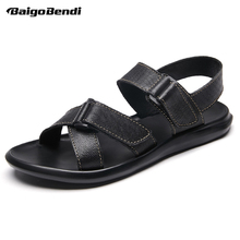 US 6-11 Light Weight Casual Mens Sandals Summer Man Driving Car Shoes Hook Loop Slides Beach Nonslip