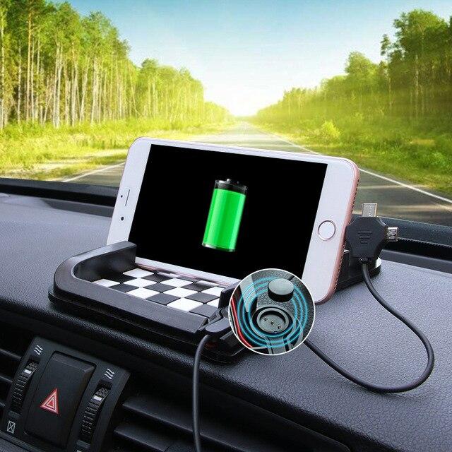Автомобильный нескользящий коврик креативный автомобильный навигационный телефон кронштейн монета солнцезащитные очки 5 стилей Нескольз...