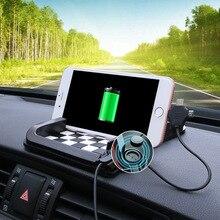 Car non slip mat creative car navigation phone bracket coin sunglasses 5 styles non-slip double sided adhesive gel pads