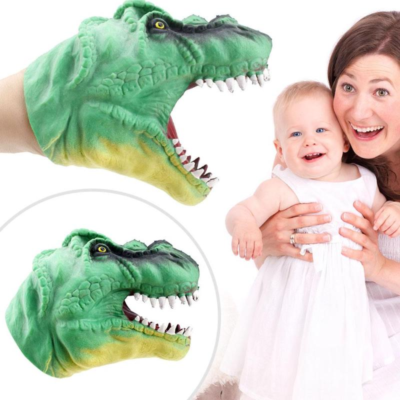 Funny Soft Dinosaur Hand Puppet Figure Toys Tyrannosaurus Gloves Children Toy Head Hand Puppet Figure Gloves Toys for Children 1pc saichania dinosaur action figure toys hand puppet kids educational model 28 319