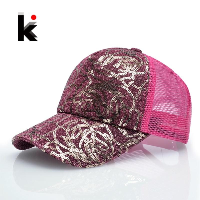 Sieviešu šķipsnas zibspuldzes 5 paneļu Trucker cepure Hip Hop Saule elpojoša acs cepure Vasaras beisbola cepures sievietēm Gorras