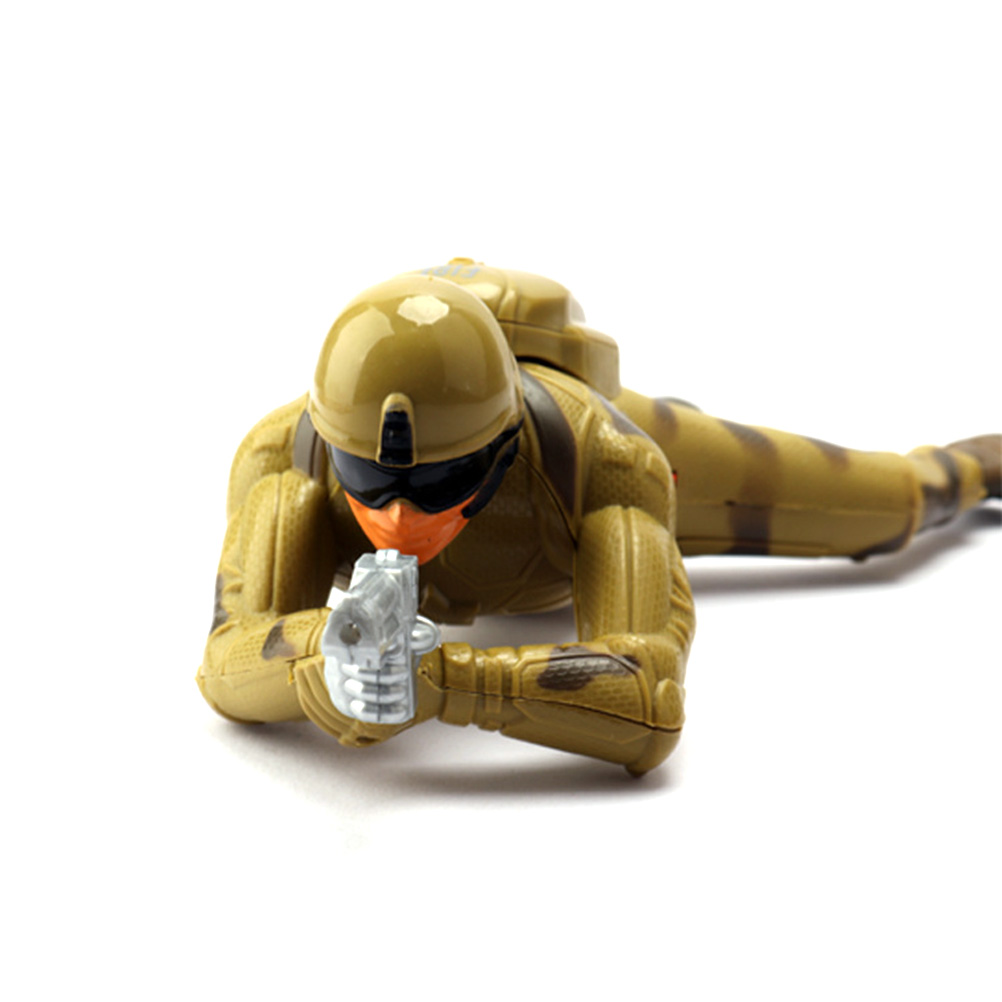 Children'S Toys Crawling Army Corp Soldier Battery Operated Toy Action Figure With Realistic Crawling Action Lights And Sounds