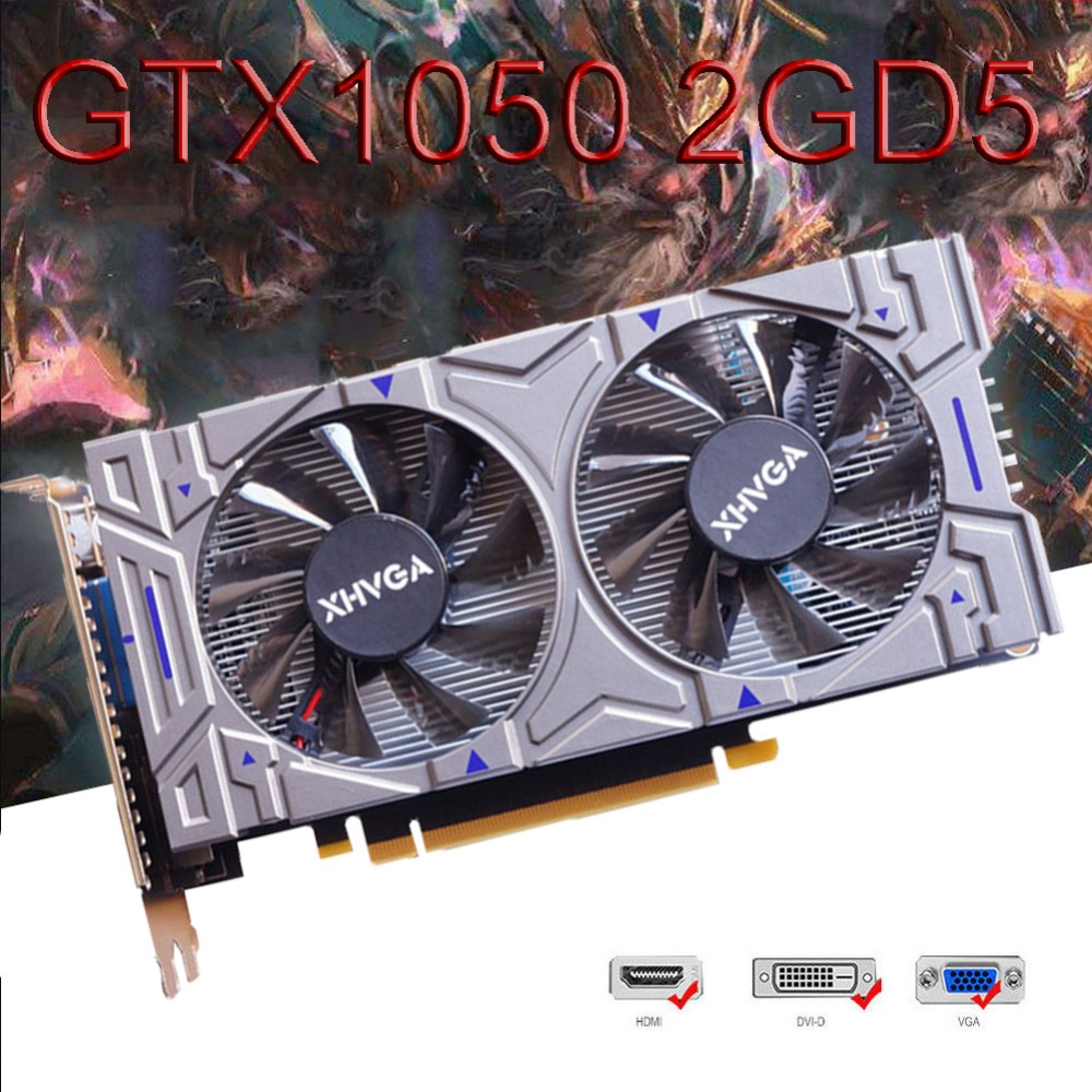 GTX1050 2G D5 GDDR5 Gaming Graphics Card PCI-e 128Bit 783MHz Good Condition For NVIDIA GeForce #277896 lan baoshi сапфир rx550 2g d5 platinum edition oc 1206mhz 7000mhz 2gb 128bit gddr5 dx12 независимой игровой графики