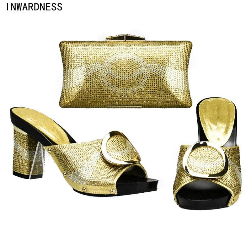 77b9ee74260d02 or Sac argent Africaine Chaussures Sandale Chaussure Nouvelle orange rouge  Noir Talons jaune De Femmes Assorties ...