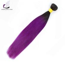 Šenlongo plaukai Peru plaukai 100g / 1B-Violetiniai žmogaus plaukai 1 paketai 8-24 colių ne remy paketai Nemokamas pristatymas