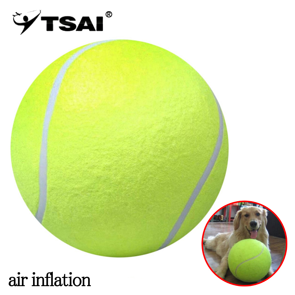 TSAI 24cm Tennis Ball Giant Air Inflation Tennis Ball Outdoor Sports Indoor Toy Signature Mega Jumbo Kids Toy Ball