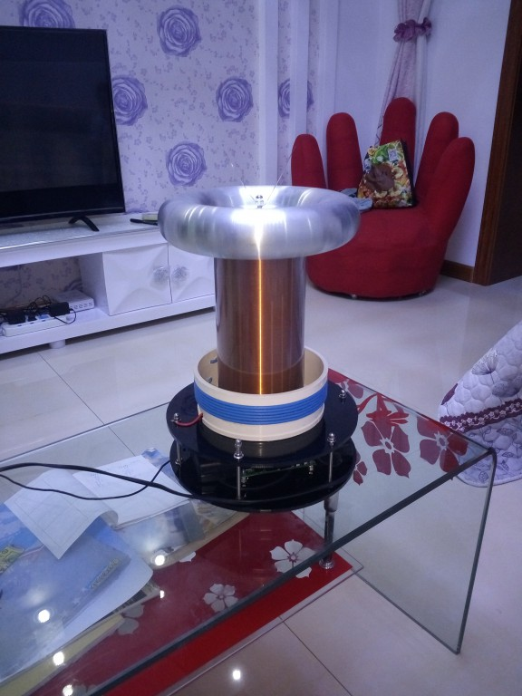 2017 NEW Solid State Tesla Coil 2017 music solid state tesla coil
