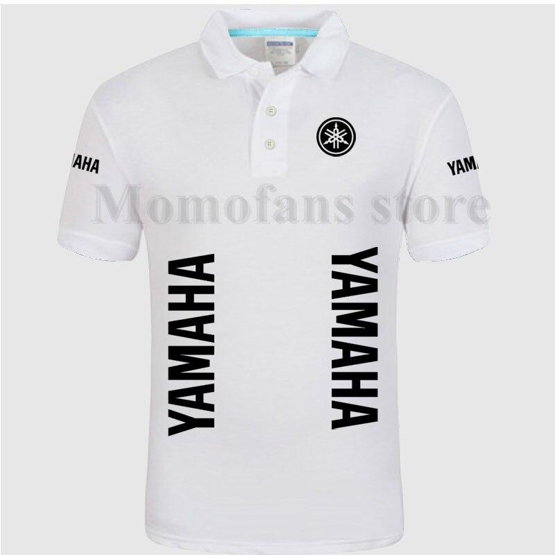 Estilo para Mulheres e Homens Pólo de Manga Camisas Curta de Algodão Cor  Soild Yamaha S-3xl Tamanho Plus Camisa Pólo Boa Qualidade 8654af304b735