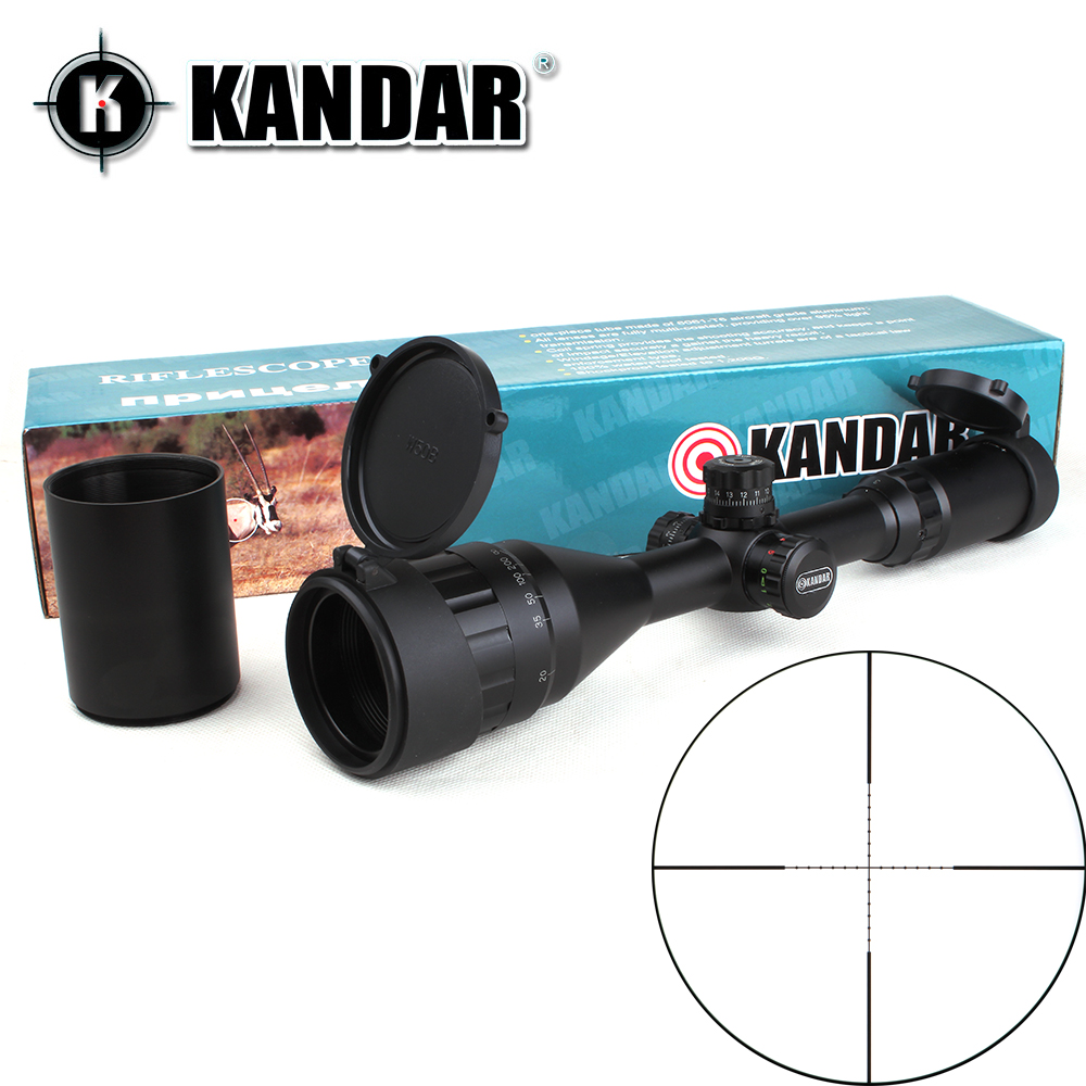 KANDAR 3-9x50 AOE Mil-dot Reticle RifleScope Locking Resetting Full Size Hunting Rifle Scope Tactical Optical Sight kandar gold edition 3 9x40 aome glass etched mil dot reticle locking riflescope hunting rifle scope tactical optical sight