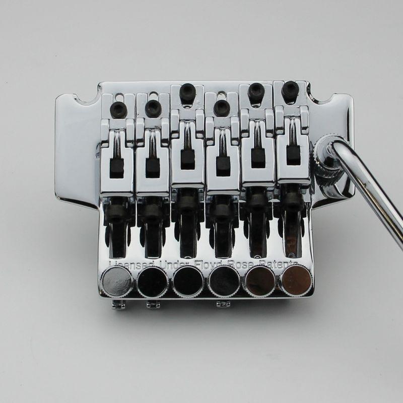 New Lic Tremolo Guitar Bridge Low Pro Double Locking Chrom BL 003 Chrome