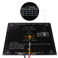 Free Shipping Black MK3 Heatbed Latest Aluminum Heated Bed Dual Power 3D Printer Parts RepRap 214