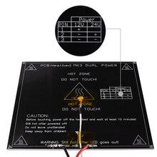 Черный MK3 радиатор 214*214*3 мм алюминиевый Талер двойной Мощность Диаметр как MK2B с подогревом для 3D-принтеры Запчасти Reprap Мендель