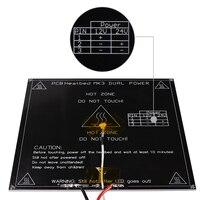 Free Shipping Black MK3 Heatbed Latest Aluminum Heated Bed Dual Power 3D Printer Parts RepRap 214