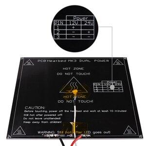 Mk3 preto heatbed 214*214*3mm alumínio heatbed dupla potência diâmetro como mk2b cama aquecida para peças de impressora 3d reprap mendel|aluminium heated bed|parts 3d printer|reprap 3d parts -