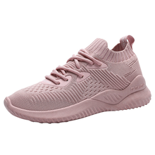 2019 Hot Womens Fashion Sneakers Flying Shoes Platform Shoes New Woman Casual Low-cut Lace-up High Qualtiy Europe Brand Design woman sneakers metallic color woman shoes front lace up woman casual shoes low top rivets embellished platform woman flats brand
