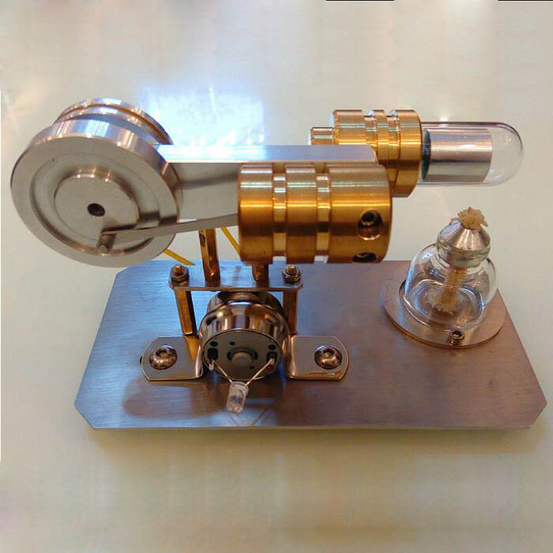 Stirling Engine External Combustion Micro Generator Steam Engine Love Birthday Gift Toy Model Engine. sterling generator sterling engine stirling external combustion engine generators stirling engine