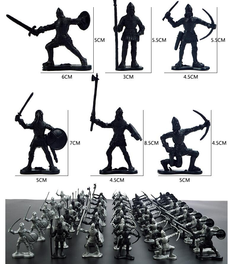 60pcs/lot ancient soldiers who model static military medieval Warrior