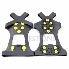 Snow Ice Traction Shoe Spike Covers Non-slip Cleats Anti-Slip Overshoes Studded