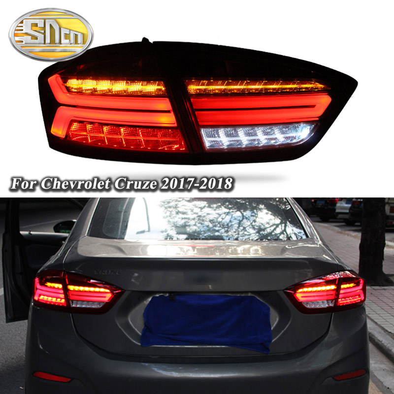 Car LED Tail Light Taillight For Chevrolet Cruze 2017 2018 Rear Running Light Brake Light Reverse Lamp Dynamic Turn Signal in Car Light Assembly from Automobiles Motorcycles
