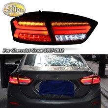 лучшая цена Car LED Tail Light Taillight For Chevrolet Cruze 2017 2018 Rear Running Light + Brake Light + Reverse Lamp + Dynamic Turn Signal