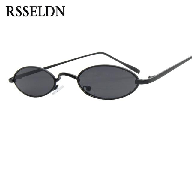 RSSELDN Fashion Small Oval Sunglasses For Men Retro Metal Frame ...