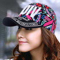 Primavera e no verão chapelaria cap moda boné de beisebol cap fêmea rabisco cap viseira verão das mulheres de rua moda osso