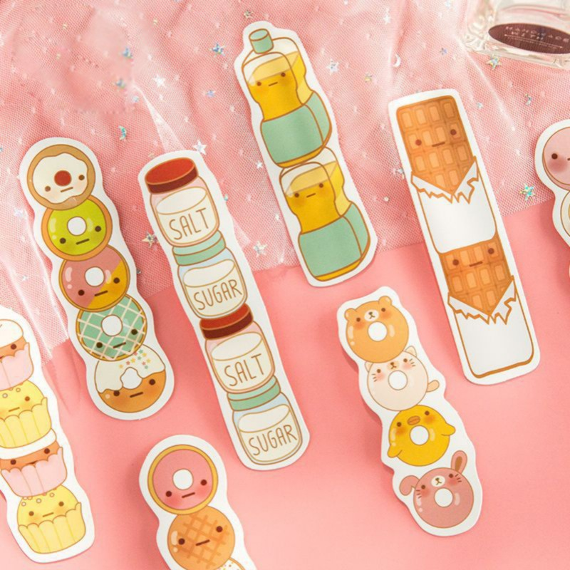 30 Pcs/box Cute Sushi Food Heteromorphism Paper Bookmarks Book Holder Message Card Kids Kawaii Stationery School Supplie