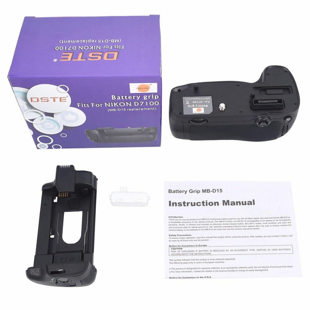 Poignée de batterie DSTE MB-D15 pour appareil photo reflex numérique Nikon D7100 D7200