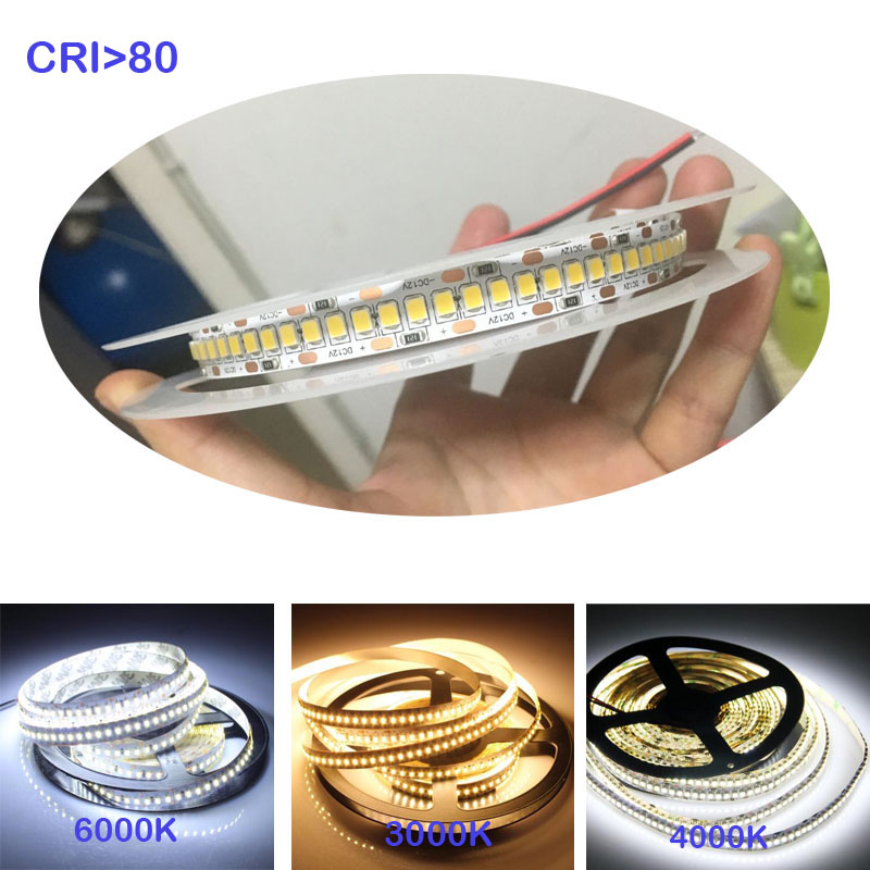 3Years Warranty 2400-2700K 240LED/m 12V LED Strip Light 2835 Warm White 1800lm/m For Home