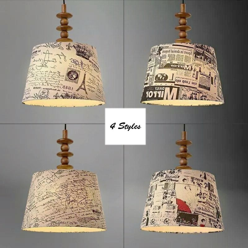 Nordic Lamp Personality Cloth Shade Drum Pendant Light Fixture Modern Simple Wood Hanging Lamp Bedroom Suspension Lighting PL636 nordic wood pendant light modern led suspension warm luminaire hanging lamp lamparas colgantes light shade for parlor restaurant