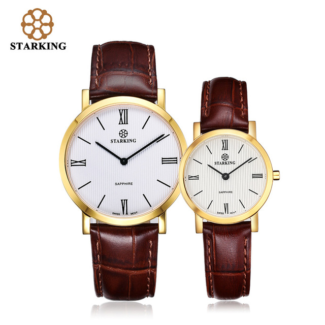 StarKing Luxury Woman's Quartz Watch Casual Lovers' Watches Men Waterproof Leather Couple Wrist Watches BM/L0897 reloj de cuarzo