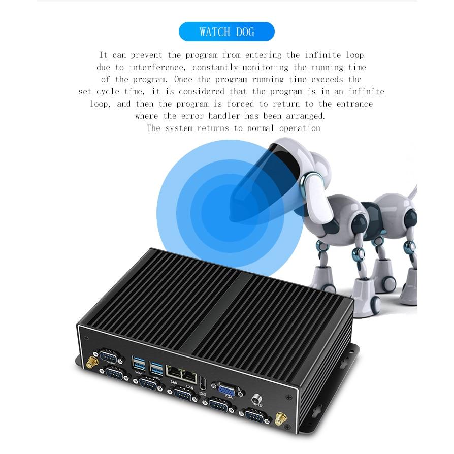 OLOEY Industrial Mini PC Intel Core i7-4500U Windows Linux 2*Gigabit Ethernet 6*RS232/RS485 HDMI VGA 8*USB WiFi Watch Dog