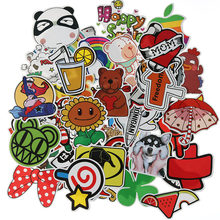 50 Mixed Stickers Funny JDM Children'S Toys Stickers DIY Suitcase Laptop Skateboard Motorcycle Mobile Phone Waterproof Stickers(China)