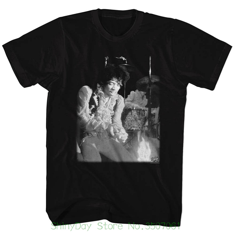 Loose Cotton T-shirts For Men Cool Tops T Shirts - Mens Burning Guitar T-shirt