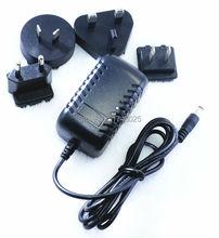 ac dc transformer adaptor 12v 800ma 0.8a 10W Interchangeable detachable wall plug type 12 volt with UK US AU EU Plugs