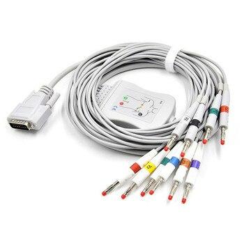 Free Shipping Factory Made Compatible Nihon Kohden ECG/EKG Cable ECG-1250,ECG-1350, ECG-9101/9130/9132/9620 Banana 4.0 end AHA фото