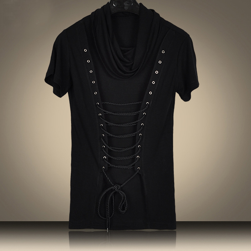 2016 New Non Mainstream Rope Pile Collier Juvénile Hip Hop T Shirt - Vêtements pour hommes - Photo 3