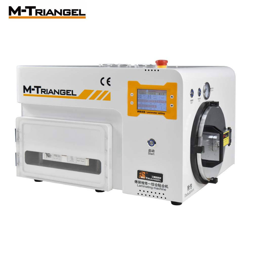 M-Triangel Curved Screen OCA Vacuum Laminating And Bubble Removing Machine Laminator And Debubbler For LCD Screen Repairing
