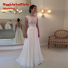BacklackGirls Wedding New Arrival 2017 Custom Made Backless Wedding Dress Eleagent A Line Lace Bridal Gowns