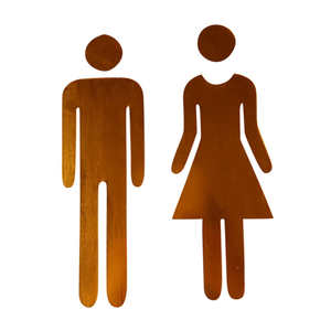 Wall-Sticker Entrance-Sign Toilet-Door Bathroom Feb7 WC Funny DIY 3D Hot Men Women Fashion