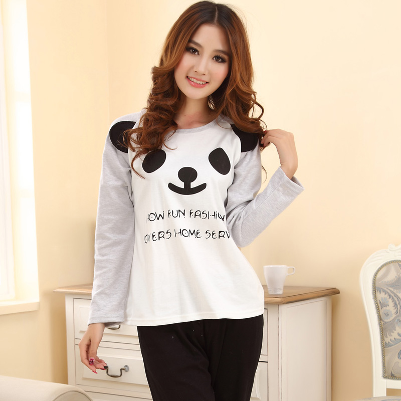 Online Shop Cute korean Pajamas Fashion O-neck Sleepwear Women's ...