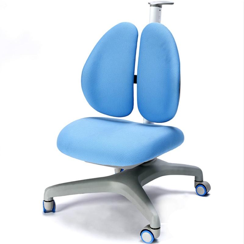 Correction assise Posture étudiant étude chaise enfants soulevé siège ménage écriture chaise ergonomie Double dossier chaise sécurité
