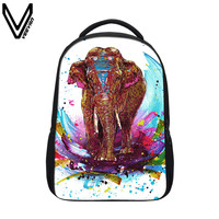 VEEVANV 2017 Colorful Elephant Backpacks For Teenage Girls Boys Casual Design Elephant Printing School Bags Animal