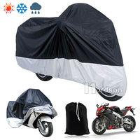 Motorcycle Waterproof Outdoor Motorbike Rain Vented Bike Cover L 220 95 110cm L W H